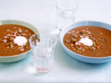 Cream of Lentil Soup with Sour Cream