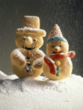 Christmas Cookies in the Shape of Snowmen