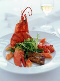 Lobster with Sauteed Goose Liver and Lettuce