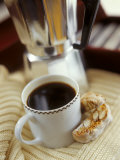 Cup of Coffee and Biscotti (Italian Almond Biscuits)