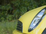 Yellow Mini Car Front End Detail of Grill and Light  Santa Barbara  California