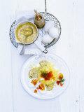 Eggs in Mustard Sauce with Potato Snow