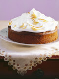 Lemon Cake with Meringue Topping