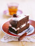 A Piece of Chocolate Cherry Cake