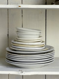 White Plates and Soup Plates (In Piles)