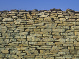 Stone Wall Around Vineyard  Burgundy  France