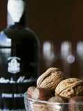 Walnuts  Hazelnuts and Bottle of Madeira