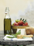 Basil  Cheese  Tomatoes and Olive Oil