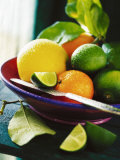 A Selection of Citrus Fruits in a Bowl