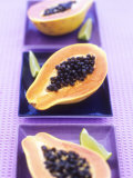 Papaya Halves and Lime Wedges