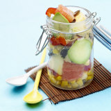 Mixed Salad in Preserving Jar