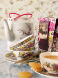 Ginger Tea with Teacups and Teapot