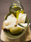 Green Olive  White Bread  Parmesan and Olive Oil
