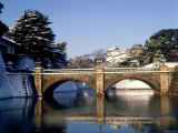 Niju-Bashi Bridge of Moat of Imperial Palace  Tokyo  Japan