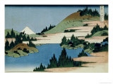 36 Views of Mount Fuji  no 34: The Lake of Hakone in the Sagami Province