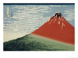 36 Views of Mount Fuji  no 2: Mount Fuji in Clear Weather (Red Fuji)