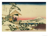 36 Views of Mount Fuji  no 24: Tea House at Koishikawa (The Morning after a Snowfall)