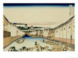 36 Views of Mount Fuji  no 31: Nihonbashi Bridge in Edo