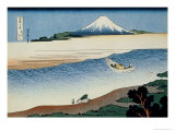 36 Views of Mount Fuji  no 8: Tama River in the Musashi Province