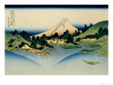 36 Views of Mount Fuji  no 35: Reflected in Lake Kawaguchi  Seen from the Misaka Pass  Kai Provinc