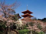 Pagoda at Kiyomizu Temple (Kiyomizudera)  Kyoto  Japan