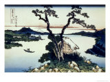 36 Views of Mount Fuji  no 17: Lake Suwa in the Shinano Province