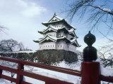 Hirosaki Castle in the Snow  Aomori  Japan