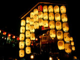Lanterns on Gion Festival Eve  July  Kyoto  Japan
