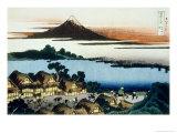 36 Views of Mount Fuji  no 41: Dawn at Isawa in the Kai Province
