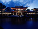 Evening View of Houou-Do Pavillion of Byodo-In Temple  Uji  Kyoto  Japan