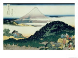 36 Views of Mount Fuji  no 6: The Coast of Seven Leagues in Kamakura
