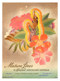 Matson Lines to Hawaii  Women with Lei