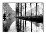 Canal, Normandie - France Reproduction d'art par Bill Philip