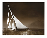Sailing Yacht Mohawk at Sea  c1895