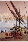 Geneve et le Mont-Blanc