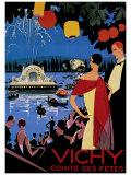 Vichy Comite des Fetes Giclée par Roger Broders
