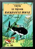 Red Rackham's Treasure (1944) Reproduction encadrée par Hergé (Georges Rémi)