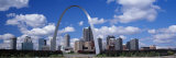 Metal Arch in Front of Buildings  Gateway Arch  St Louis  Missouri  USA
