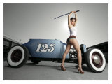 Hot Rod Samurai Pin-Up Girl