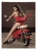 Motorcycle Pin-Up Girl