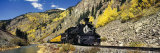 Steam Train on Durango and Silverton Narrow Gauge Railroad  Silverton  Colorado  USA