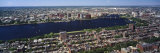 Aerial View of Back Bay  Cambridge  Boston  Massachusetts  USA