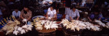 Five Women Selling Chicken in a Market  Hue  Vietnam