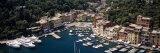 Boats Docked at a Harbor  Italian Riviera  Portofino  Italy