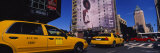 Yellow Taxies at the Road Intersection  Manhattan  New York City  New York  USA