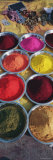 Powder Paints in Bowls  Orchha  Madhya Pradesh  India
