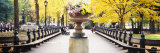 Flower Pot on a Walkway  Central Park  Manhattan  New York City  New York  USA