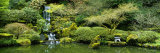 Waterfall in a Garden  Japanese Garden  Washington Park  Portland  Oregon  USA