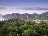Ko Nok and Ton Sai Village from Ko Nai Viewpoint  Ko Phi Phi  Thailand
