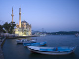 Ortakoy Camii and the Bosphorus Bridge  Istanbul  Turkey